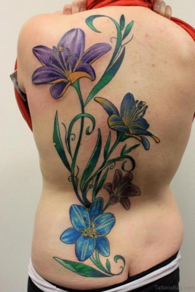 Flower Tattoo Artist Tattooist Flower 타투이스트: 70 Lovely Flowers Tattoos On Back