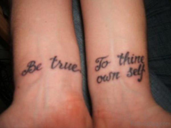 2 Inner Tattoo On Wrist