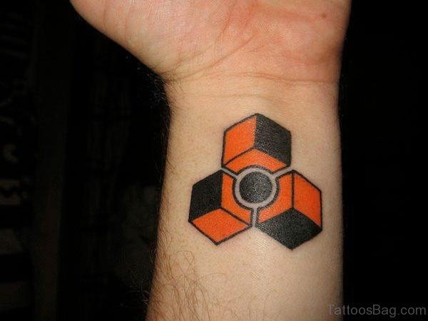 Colorful Cubes Geometric Tattoo