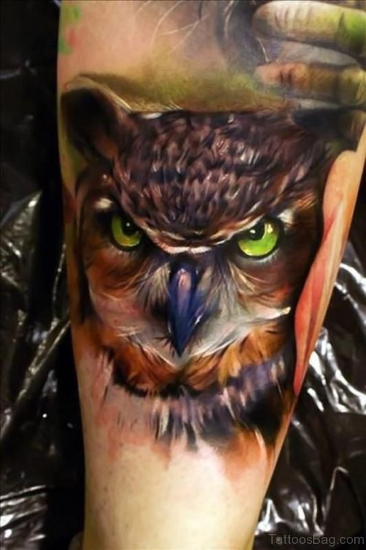 3D Owl Tattoo for Men