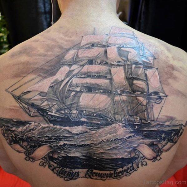 3D Ship Tattoo
