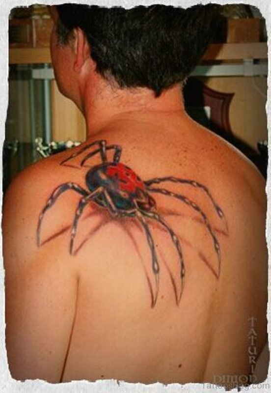 39aa48e7b29e2 63 Great Spider Tattoos For Back