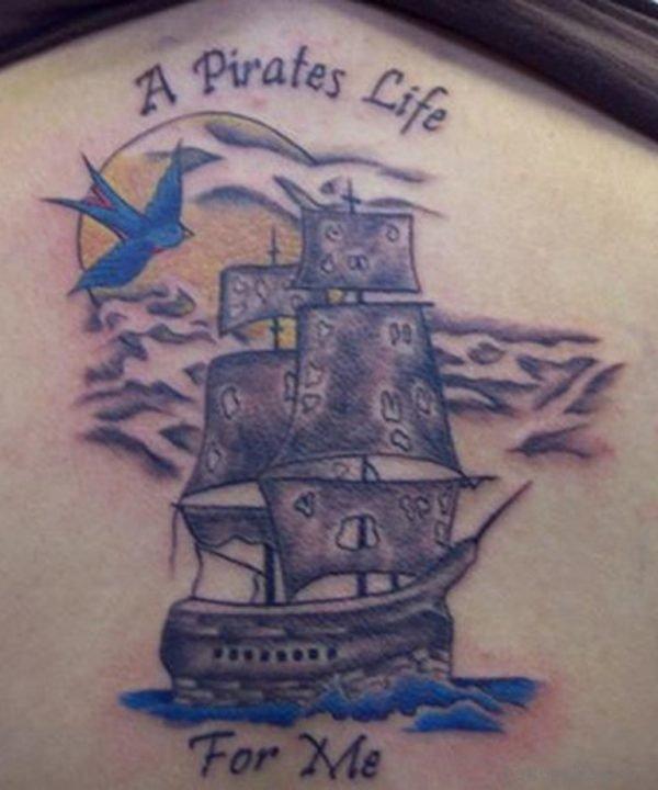 Graceful Ship Tattoo