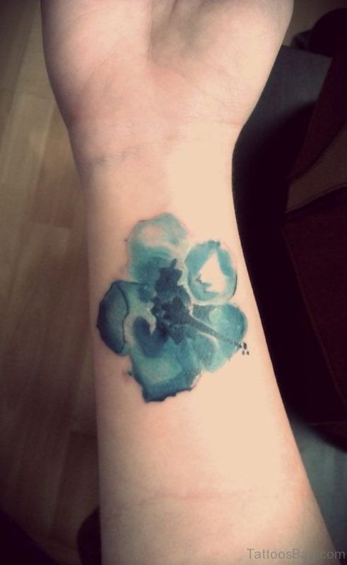 Abstract Flower Tattoo On The Wrist