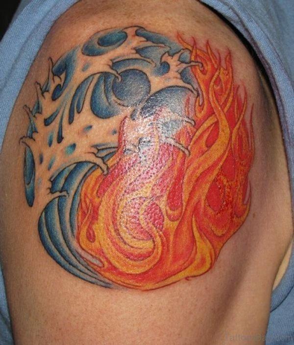 Abstract Yin Yang Tattoo