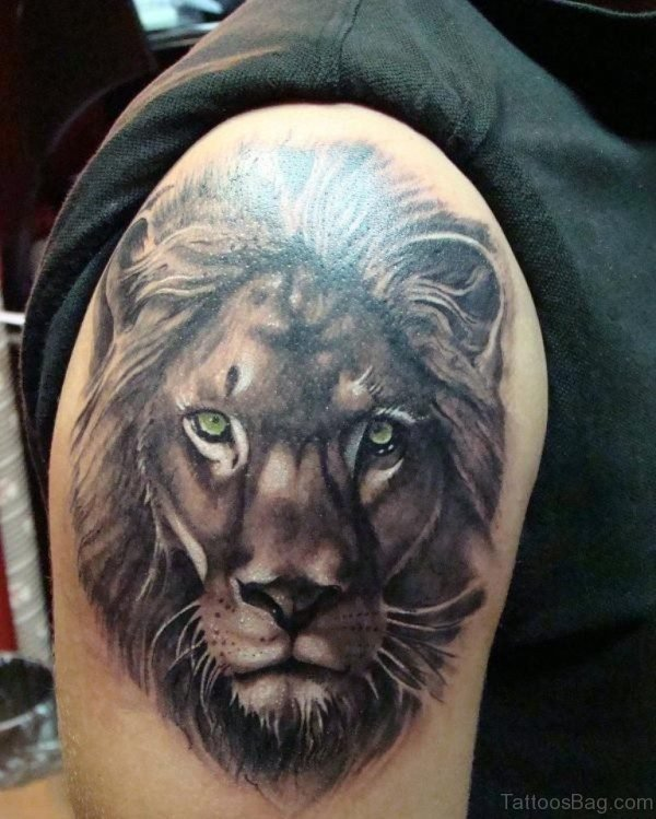 Adorable Lion Shoulder Tattoo