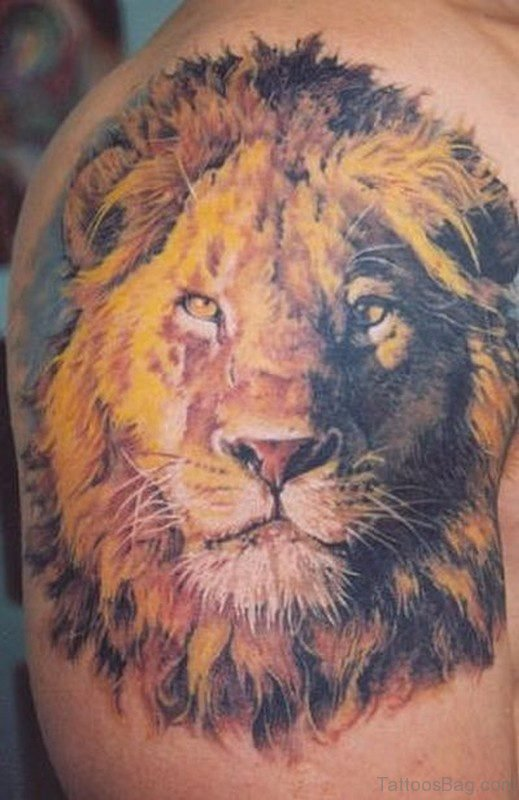 Adorable Lion Tattoo