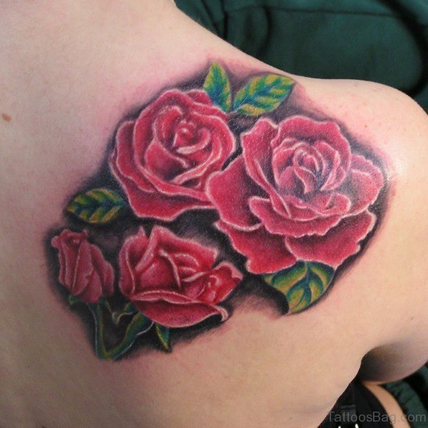 Adorable Rose Tattoo