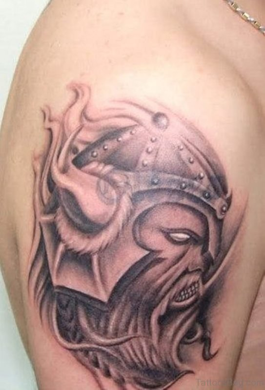 Adorable Viking Tattoo Design