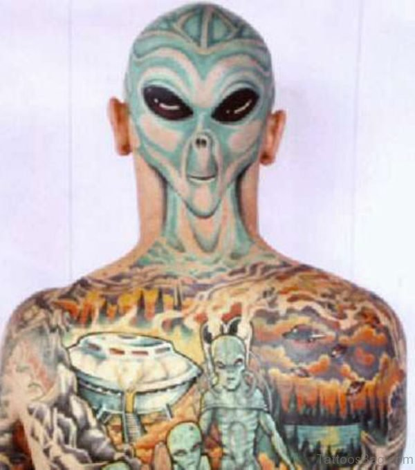 Alien Tattoo On Back