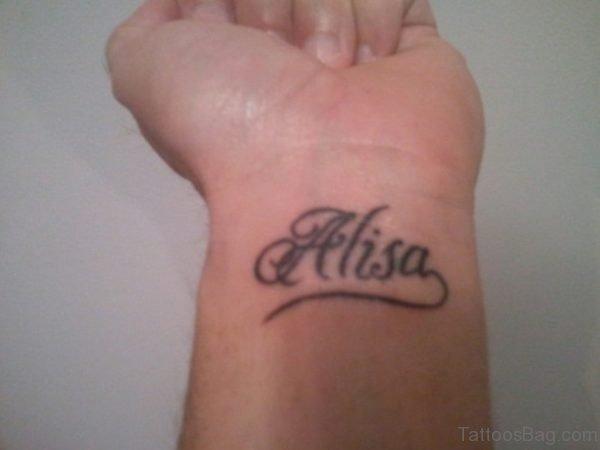 Alisa Name Tattoo