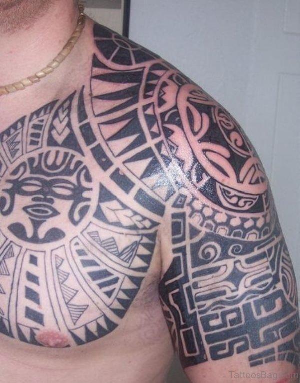 Amazing Aztec Shoulder Tattoo Design