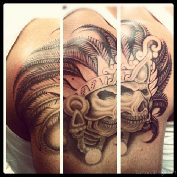 Amazing Aztec Skull Tattoo