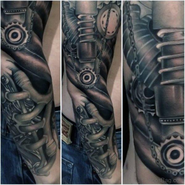 Amazing Bio Mechanical Tattoo