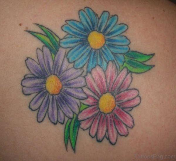Amazing Daisy Flowers Tattoo Design