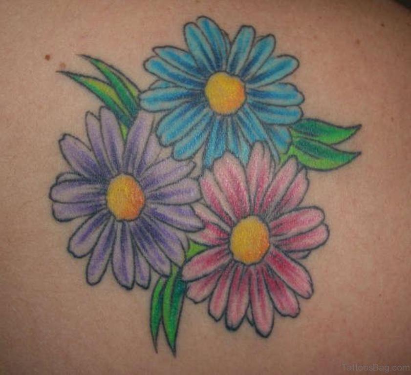 Daisy Butterfly Tattoo Design