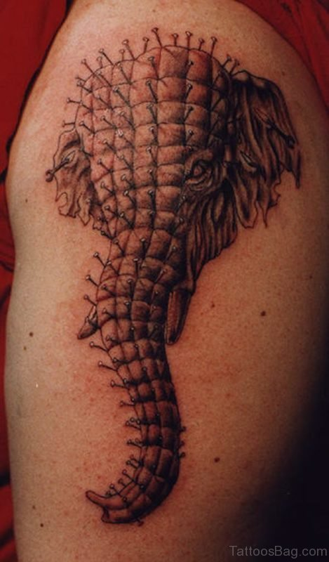 Amazing Designed Elephant Tattoo
