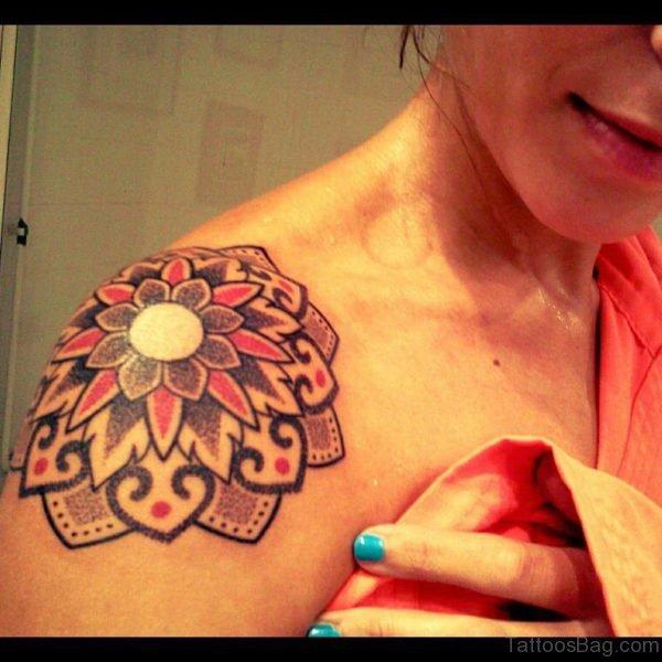Amazing Designer Flower Tattoo