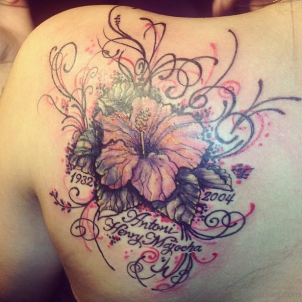 Amazing Flower Tattoo On Shoulder