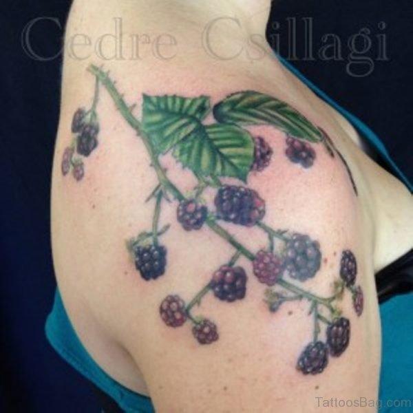 Amazing Fruit Vine Tattoo