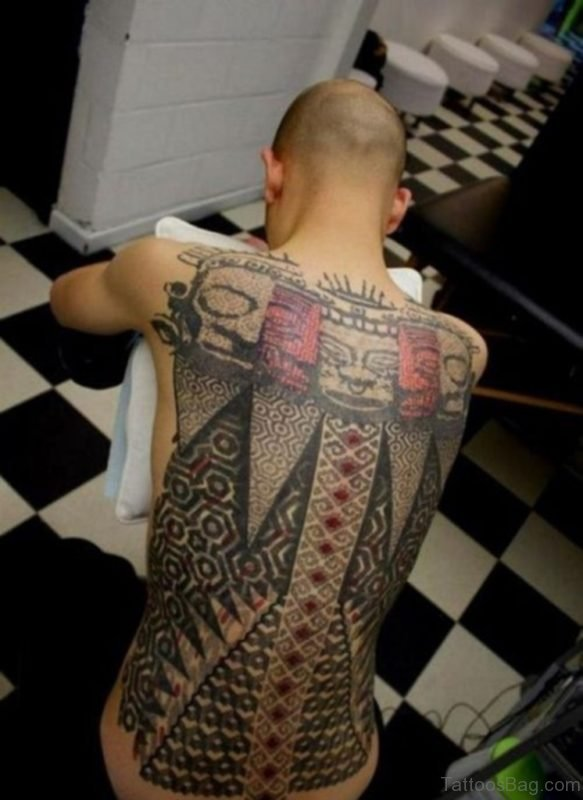 Amazing Full Back Tattoo