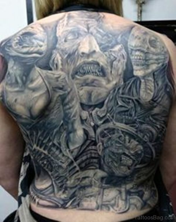 Amazing Horror Tattoo