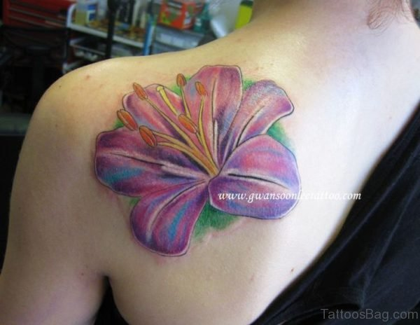 Amazing Lily Tattoo Design