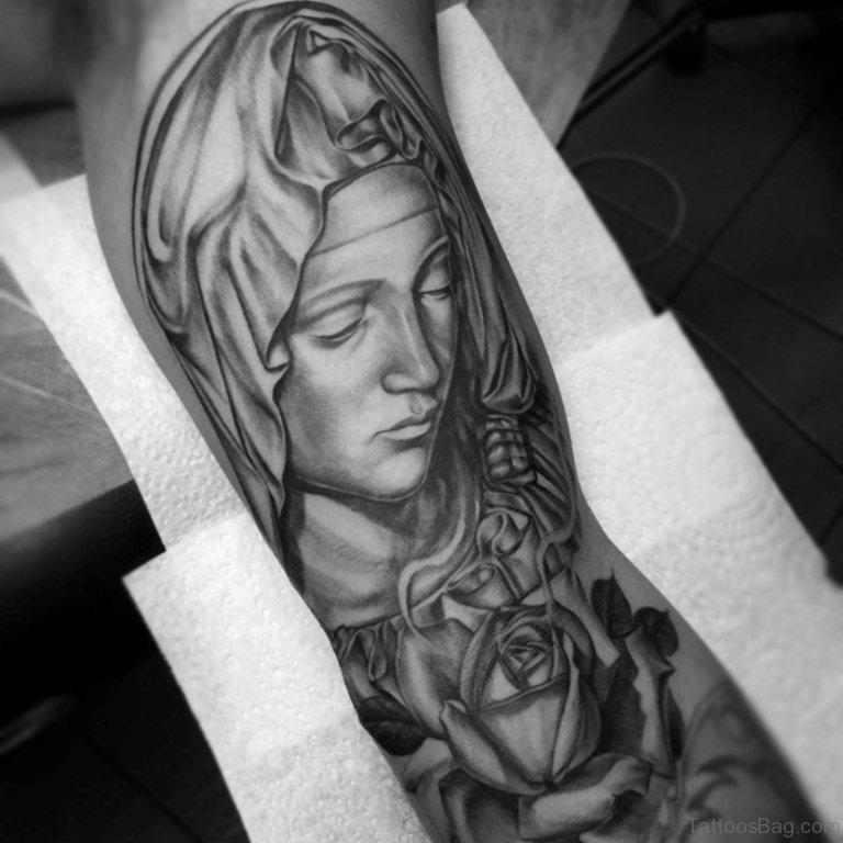 2bf2705e5 53 Adorable Virgin Mary Shoulder Tattoos