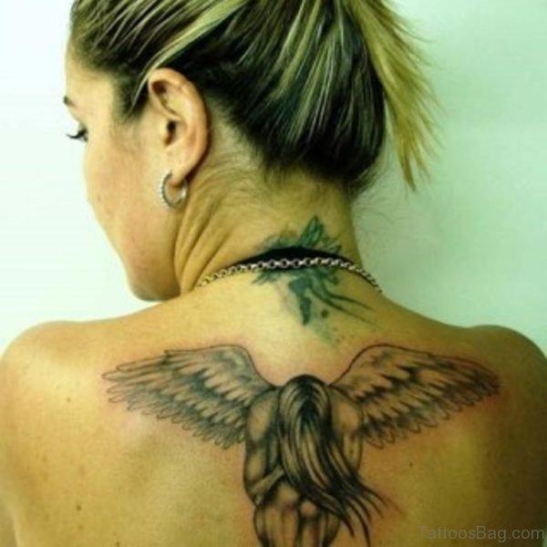 Amazing Memorial Angel Tattoo