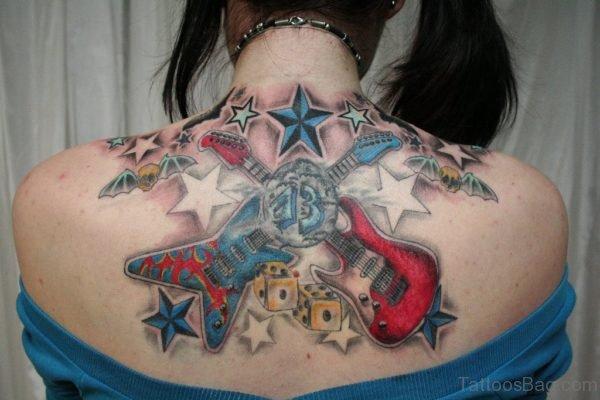 Amazing Music Note Tattoo