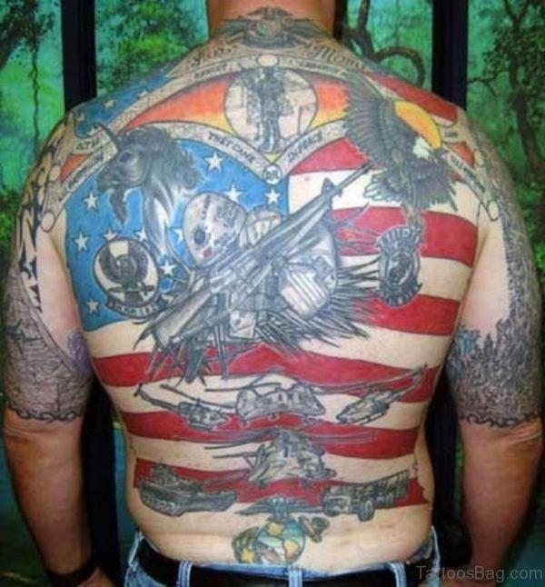 Amazing Patriotic Tattoo