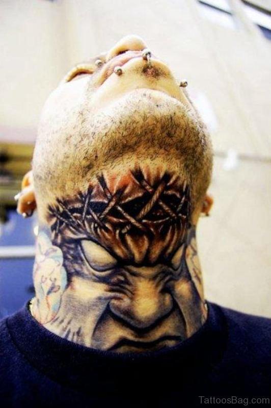 Amazing Ripped Skin Tattoo
