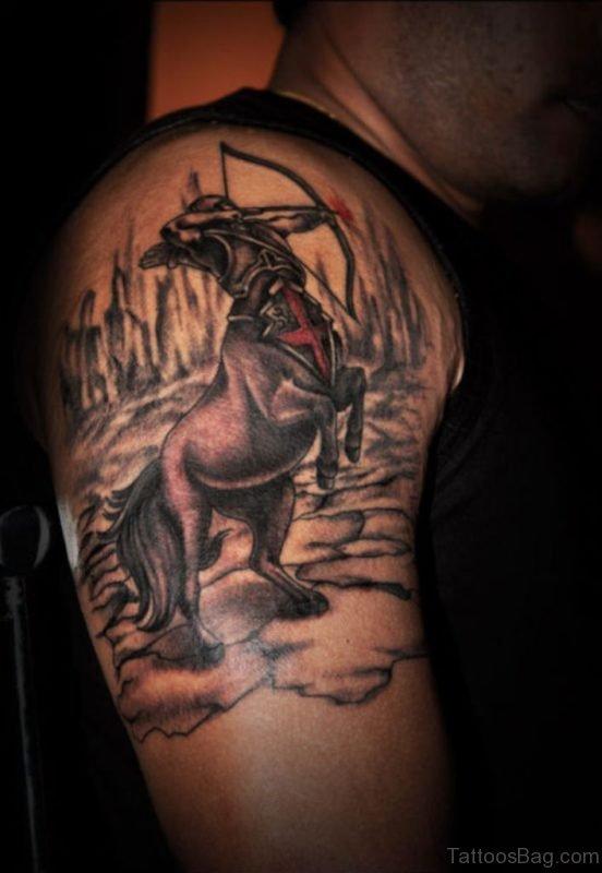 Amazing Sagittarius Zodiac Tattoo
