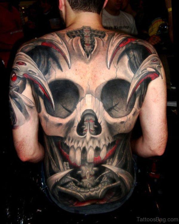 Amazing  Skull Tattoo