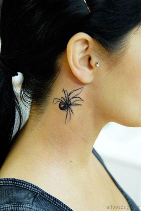 Amazing Spider Tattoo For Women
