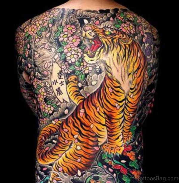Amazing Tiger Tattoo Design