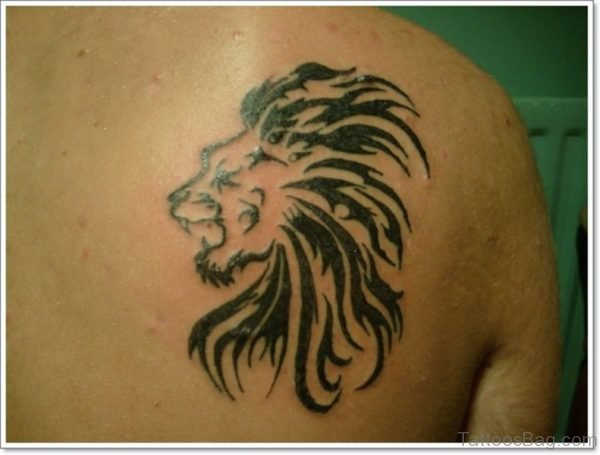 Amazing Tribal Lion Tattoo Design