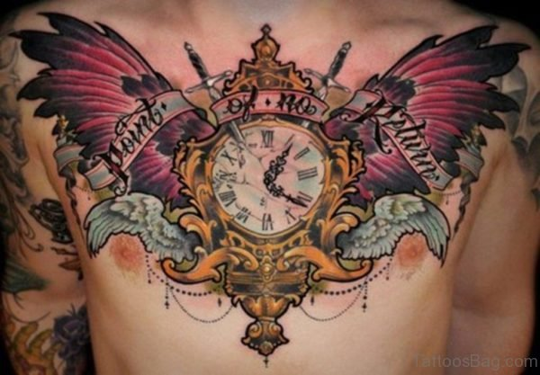Amazing Wings Tattoo On Chest