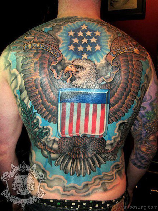 American Eagle Tattoo  On Full Back