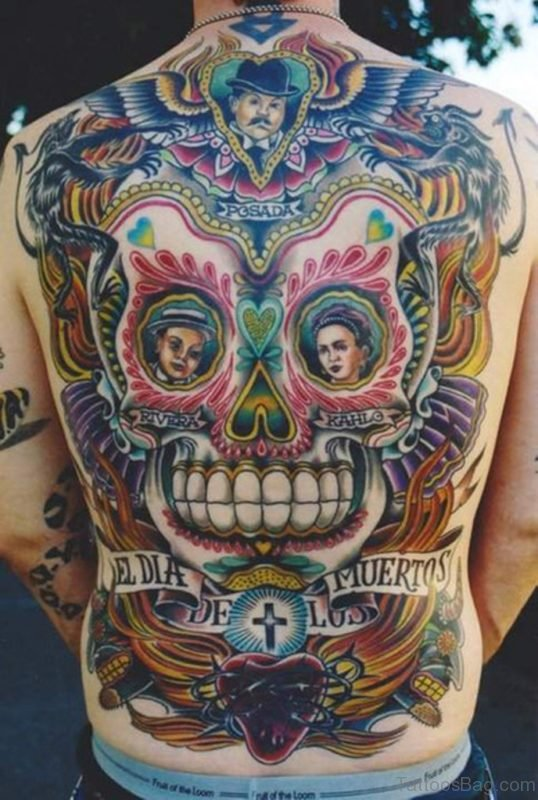 American Skull Tattoo