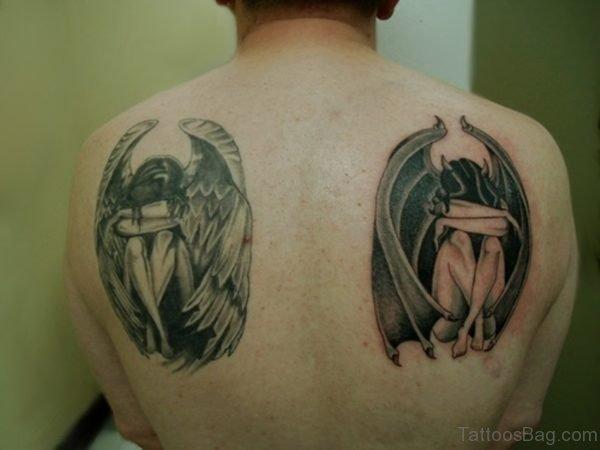 Angel Blade Shoulder Tattoo