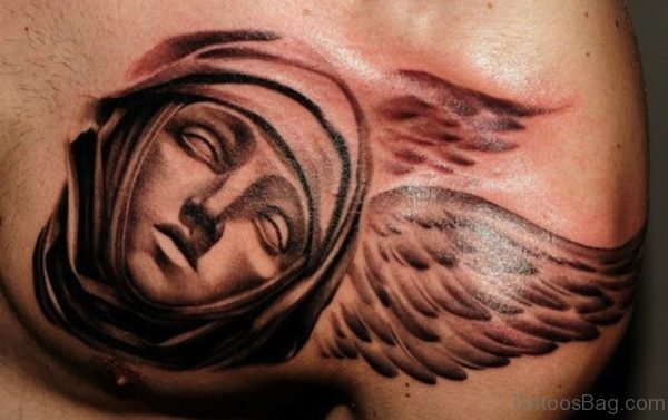 Angel Face Tattoo