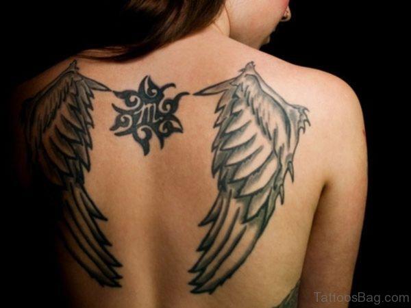 Angel Feather Shoulder Tattoo Design