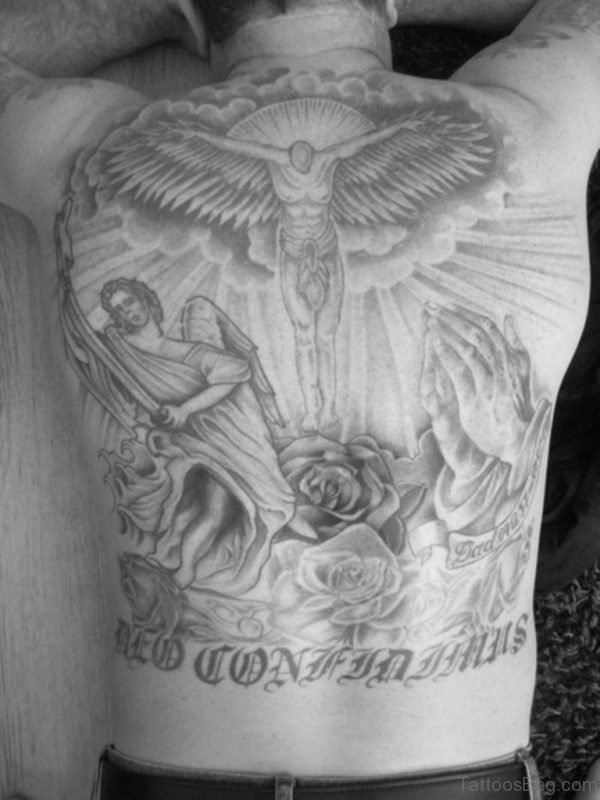 Angel Religious Tattoo