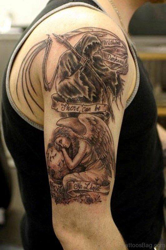 Angel Shoulder Tattoo Design