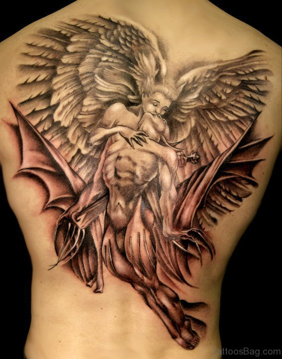Angel Tattoo Design On Back