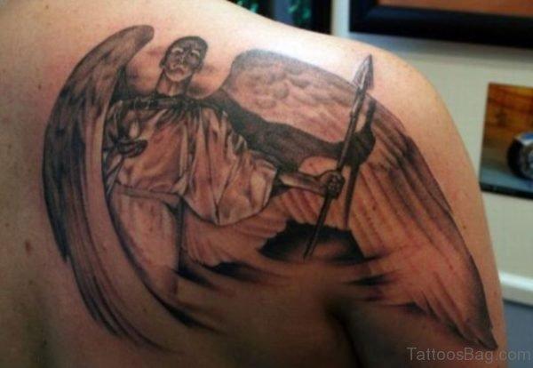 Angel With Arrow Tattoo