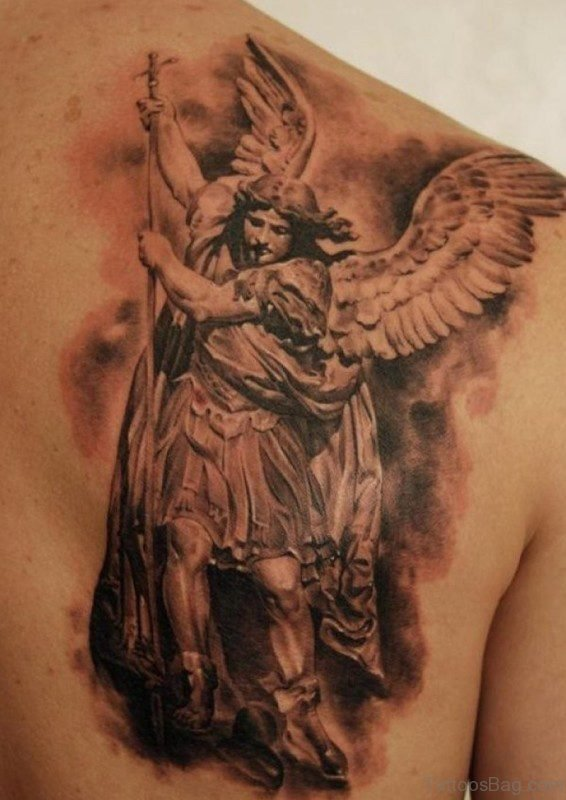 Angel With Spear Tattoo