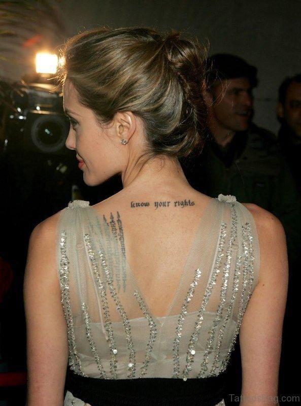 Angelina Neck Tattoo