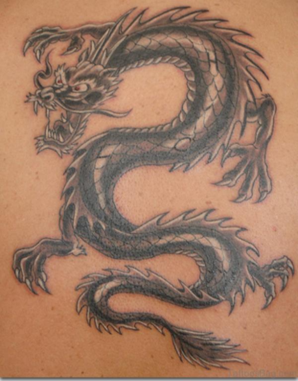 Angry Dragon Tattoo